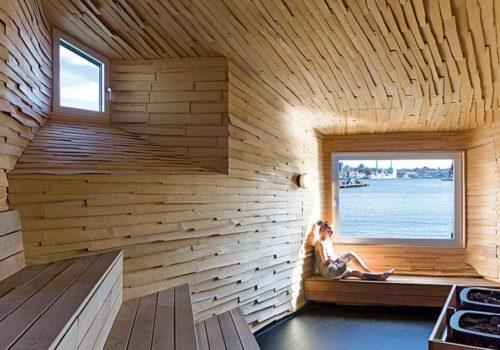 Sauna im Hafen: raumlabor berlin