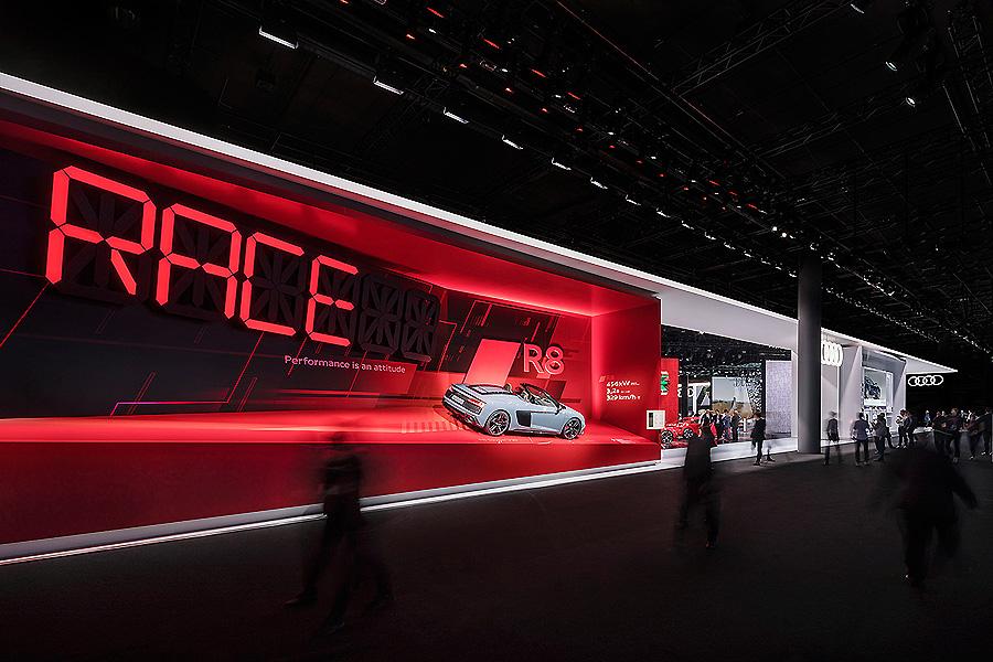 Audi-Messestand auf der IAA in Frankfurt/M. von Schmidhuber und Mutabor
