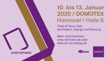 Talks & Tours on architecture, design and planning – DOMOTEX 2020