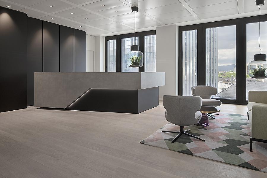 Kundenbereich der Bethmann Bank in Frankfurt am Main von Schmidt Holzinger
