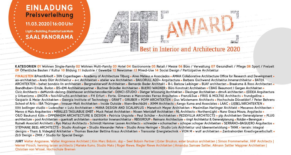 Invitation AIT-Award Ceremony 2020